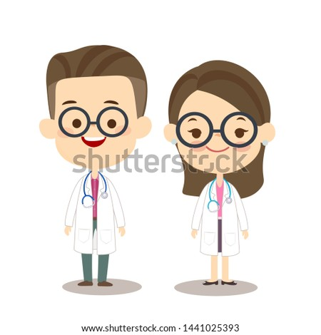 Male and Female doctor vector
