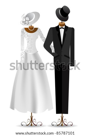 male and female dress