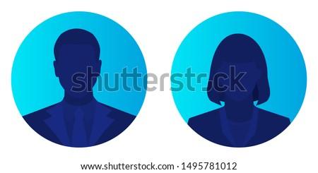 male and female face avatars