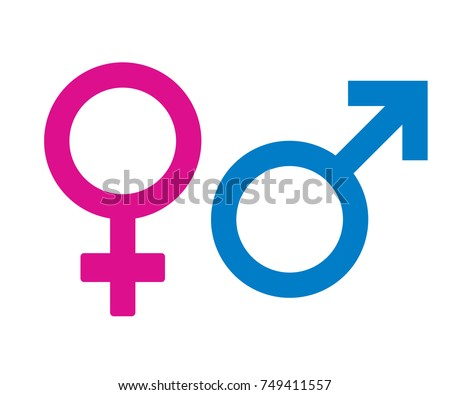 Male and Female icon symbol on white background,vector illustration.