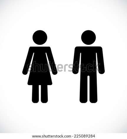 Male and Female Restroom Symbol Icon Vector illustration