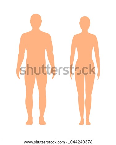male and female silhouette ...