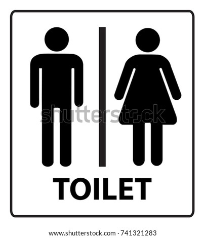 Male and Female Standard Symbol Toilet Sign