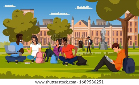male and female students rest