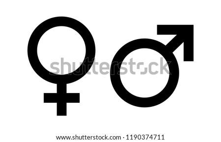 Male and Female symbol icon vector