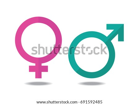 Male and female symbol on white background.vector,illustration