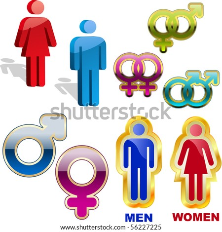 Male and female symbol. Vector set.