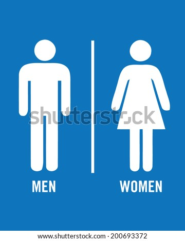 male and female vector bathroom
