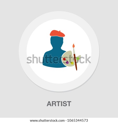 male artist icon  artistic