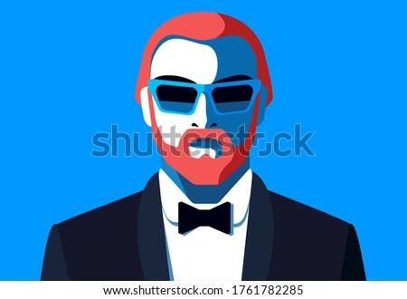 male avatar bearded redhead