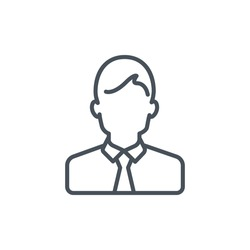 Male avatar icon suitable for info graphics, websites and print media and  interfaces. Line vector icon.