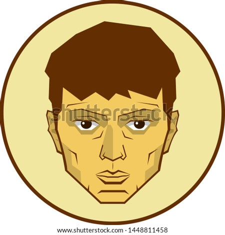 Male avatar, male character. Vector illustration.