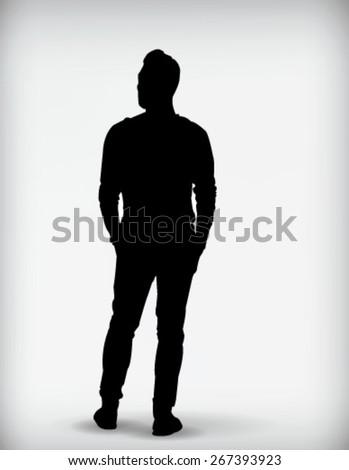 male black silhouette vector