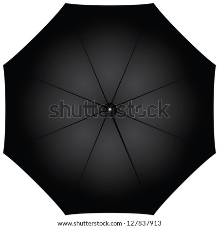 Male black umbrella against the weather. Vector illustration. - stock vector