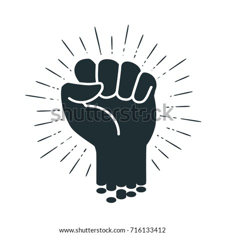 male clenched fist  logo or