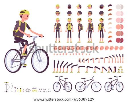 male cyclist on sport bike...