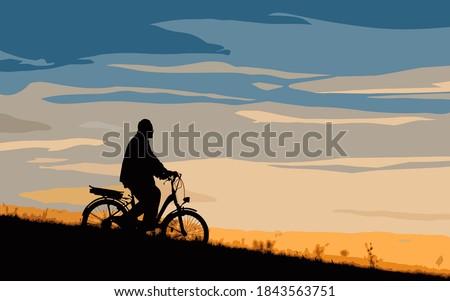male cyclist on the e bike or