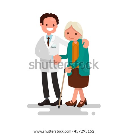 male doctor helping a