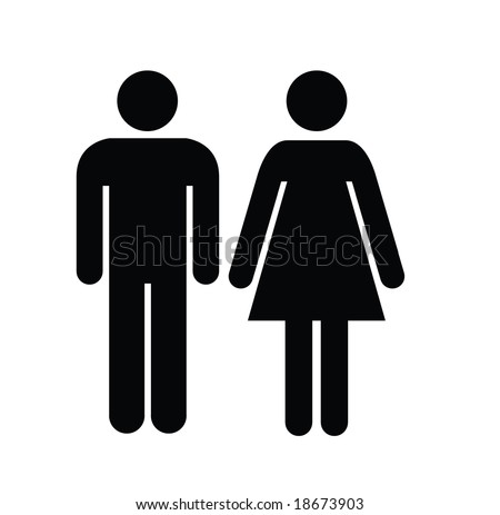 Male Female Stock Vector 18673903 : Shutterstock