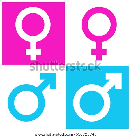 male female gender symbol icon