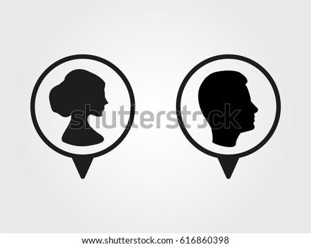 male, female, icon, vector illustration eps10