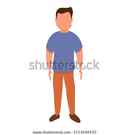 Male figure icon. Cartoon of male figure vector icon for web design isolated on white background