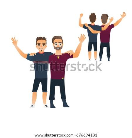 male friendship concept  couple