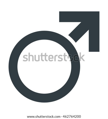 Male Gender Vector Icon #462764200