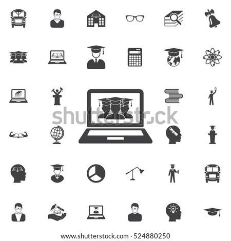 male graduate in graduation cap icon. Education icons universal set for web and mobile