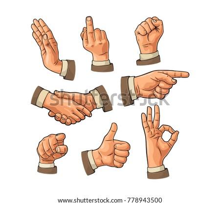 male hand sign. fist  like ...