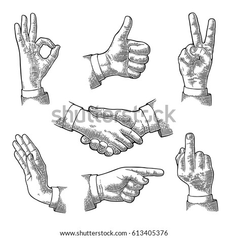 male hand sign. like  handshake ...