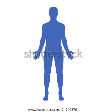 male human body belonging to an