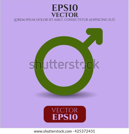 male icon vector symbol flat eps jpg app web concept website