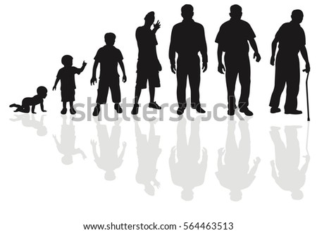 Male life cycle silhouette