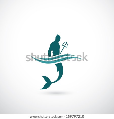 male mermaid symbol   vector