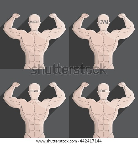male muscle grey gym health