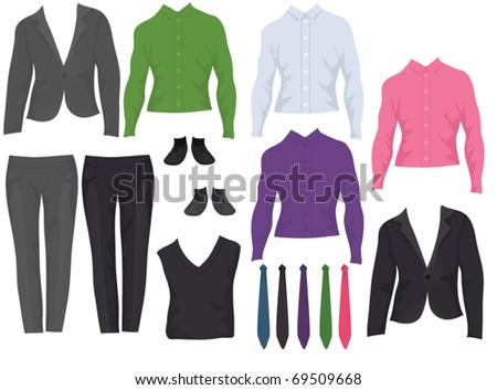 Male office clothes