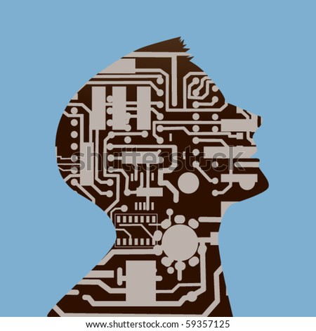Male profile computer circuit board