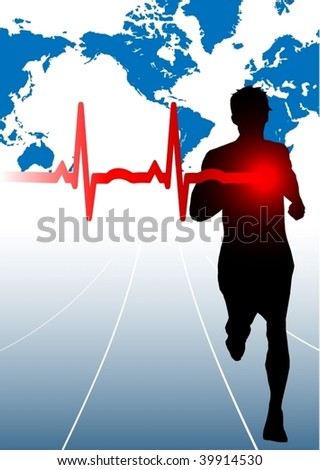 Male runner with EKG
