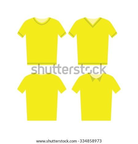 male shirts template - Shutterstock ID 334858973