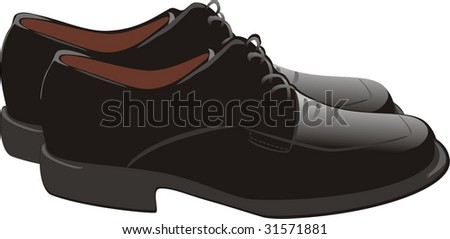 Male shoes. Vector