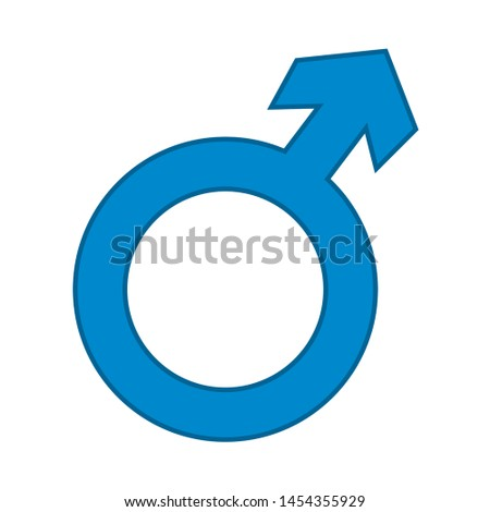 male sign. flat illustration of male. vector icon. male sign symbol