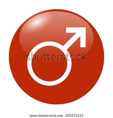 male sign icon. male sex button....