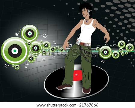 wallpaper disco. dancer on disco background
