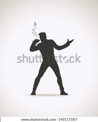 male singer   vector