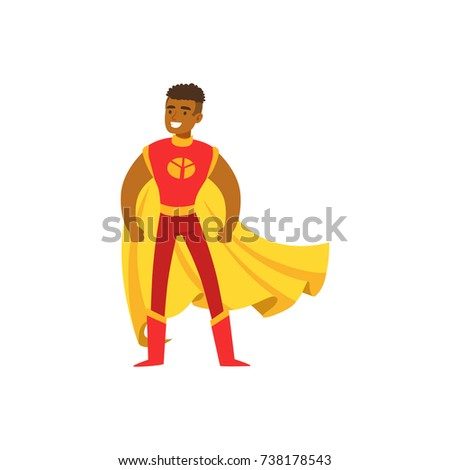 male superhero in classic