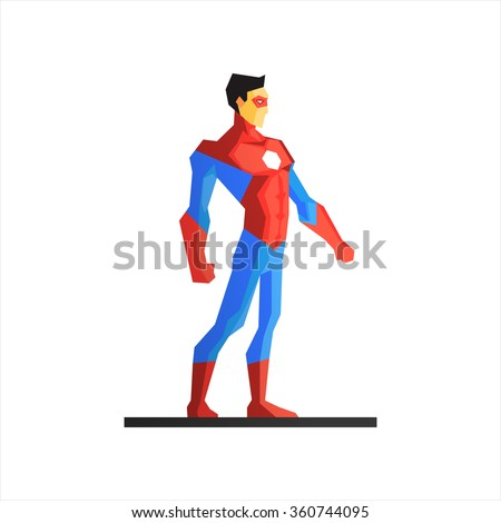 male superhero vector
