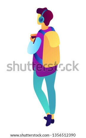 male teenager walking with