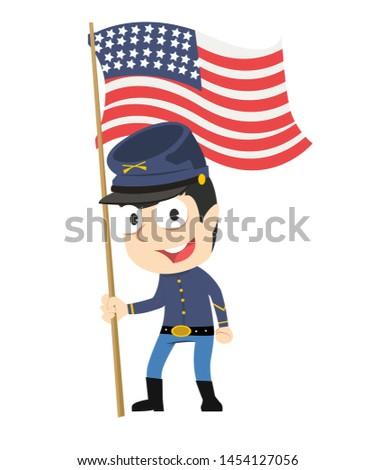 male troop vector illustration design