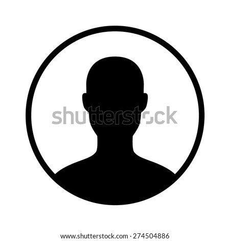 Male user account or user profile circle flat vector icon for apps and websites